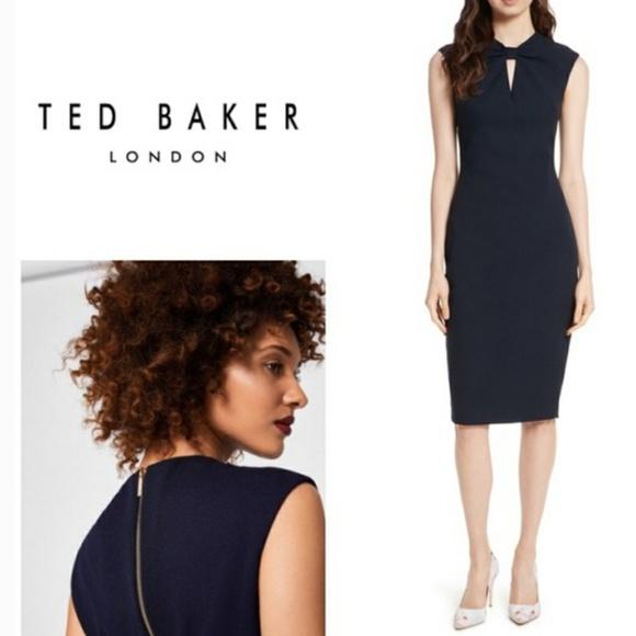 b581703fe4f8b7 Ted Baker Kezzia Bow Neck Bodycon dress